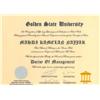 مدرك دكترا و گواهينامه هاي دانشگاه گلدن استيت